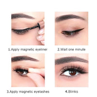 Magnetic Eyelash and Eyeliner Set 2 pair +tool A1