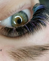 Ombre Blue/purple eyelashes extension 0.07 C curl