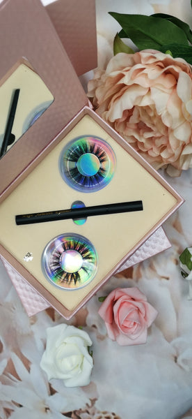 Magnetic Eyelash and Eyeliner Set 2 pair +tool A2