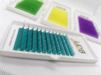 Turquoise eyelashes extension 0.07 C curl Mix size 8-13mm
