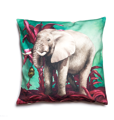 Wildlife Cushion Cover - Elephant
