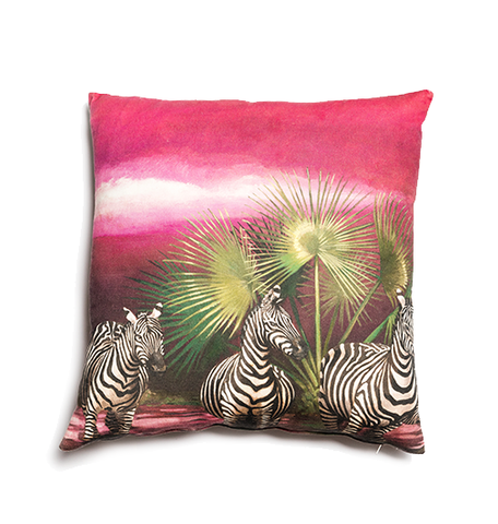 Wildlife Cushion Cover - Zebra