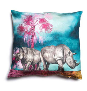 Wildlife Cushion Cover - Rhino
