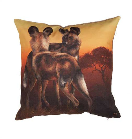 Wildlife Cushion Cover - Wild Dog