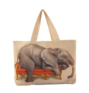 Large Canvas Bag - Elephant