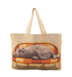 Large Canvas Bag - Hippo