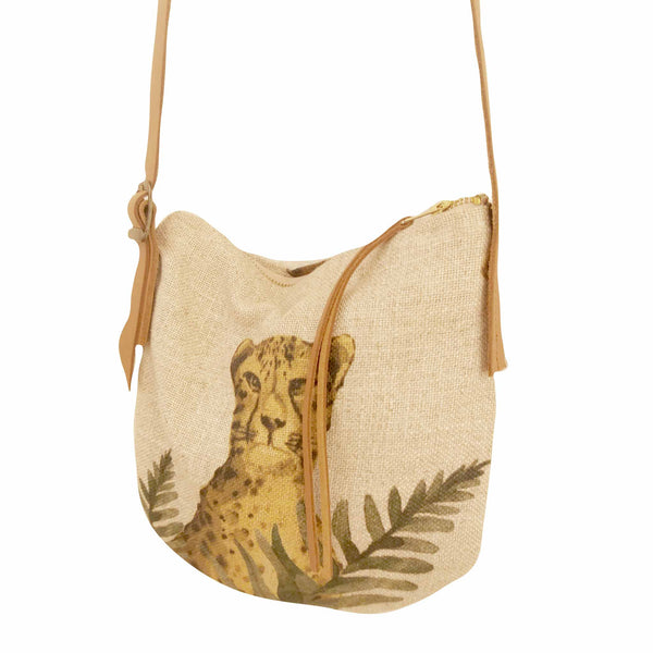 Fabric Sling Bag - Cheetah