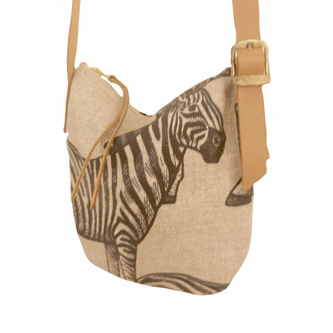 Fabric Sling Bag - Zebra