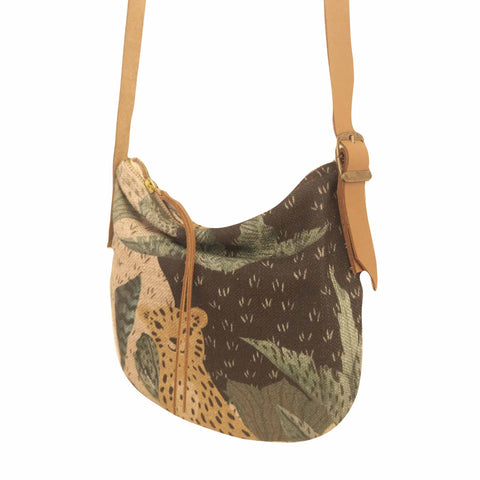 Fabric Sling Bag - Leopard