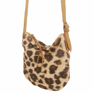 Fabric Sling Bag - Leopard print