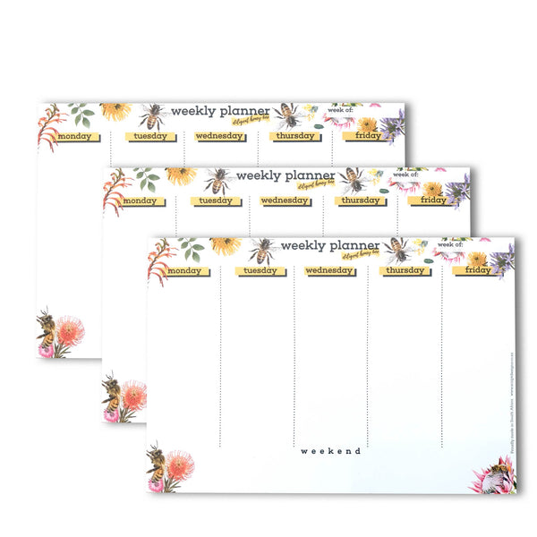 A5 Desk Planner - Honey Bee
