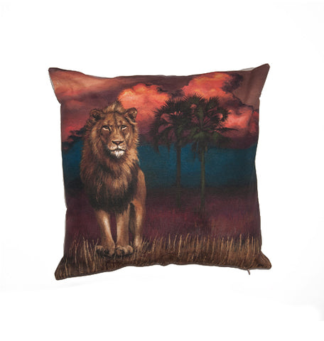 Wildlife Cushion Cover - Lion