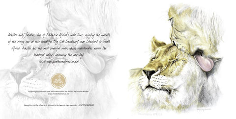 Greeting Card Single - Watercolour artist - Lioness
