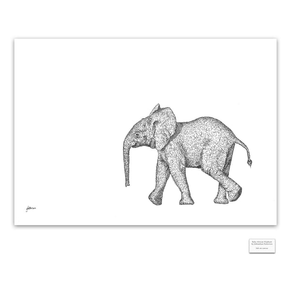 Original Artwork - J Patterson - Baby Elephant