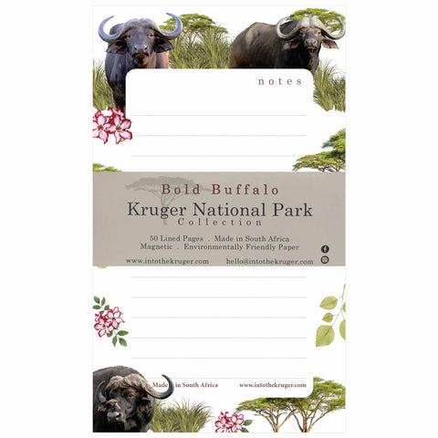 Wildlife Notepad - Kruger National Park - Buffalo