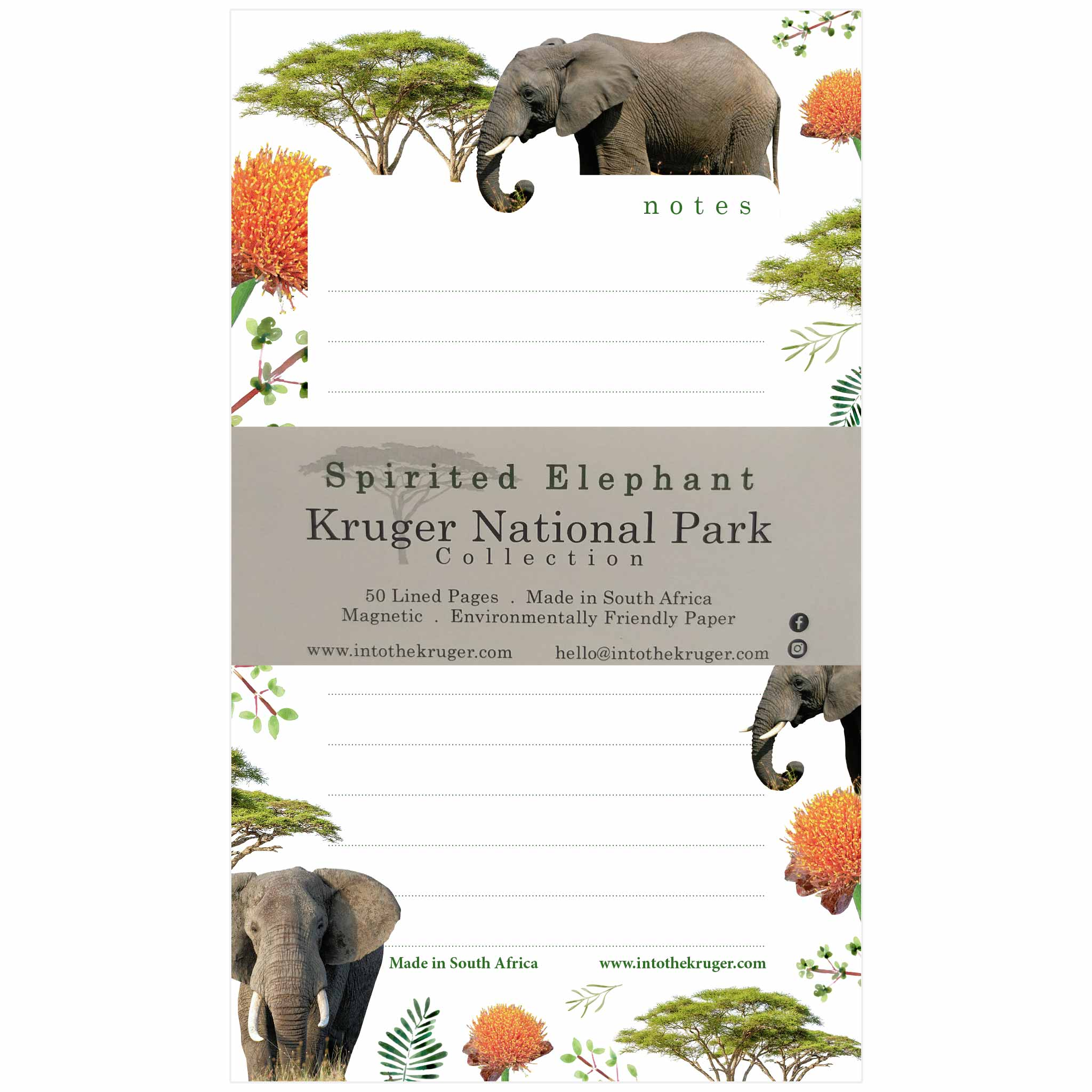 Wildlife Notepad - Kruger National Park - Elephant