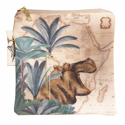 Coin Purse - Safari Collection - Hippo