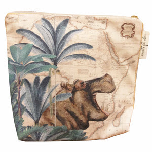 Safari Collection - Small Canvas Bag - Hippo