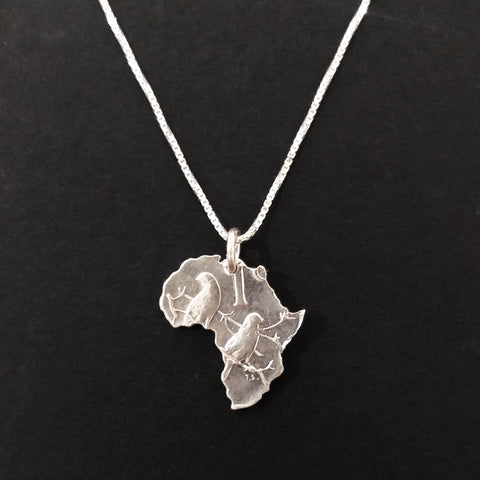 One Cent Africa Pendant - Silver
