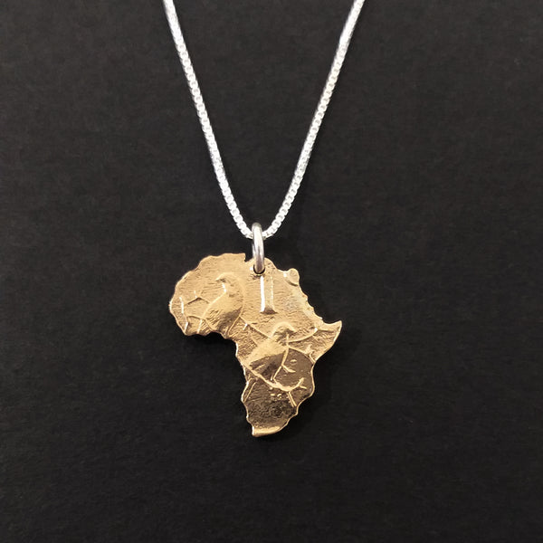 One Cent Africa Pendant - Copper