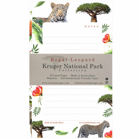 Wildlife Notepad - Kruger National Park - Leopard
