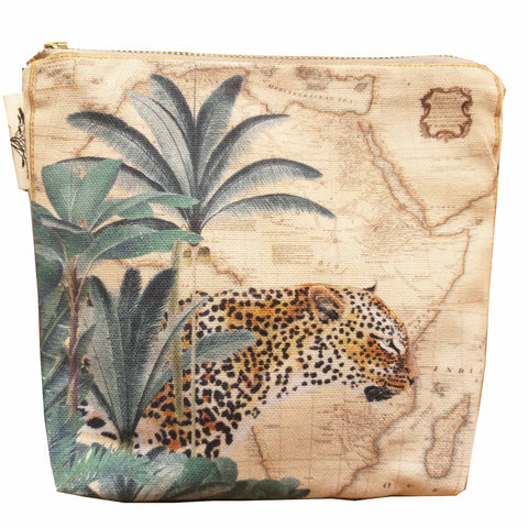 Safari Collection - Small Canvas Bag - Leopard