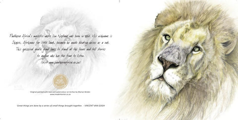 Greeting Card Single - Watercolour artist -Lion