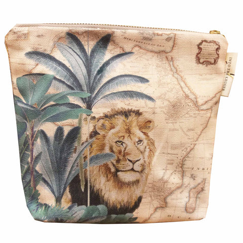 Safari Collection - Small Canvas Bag - Lion