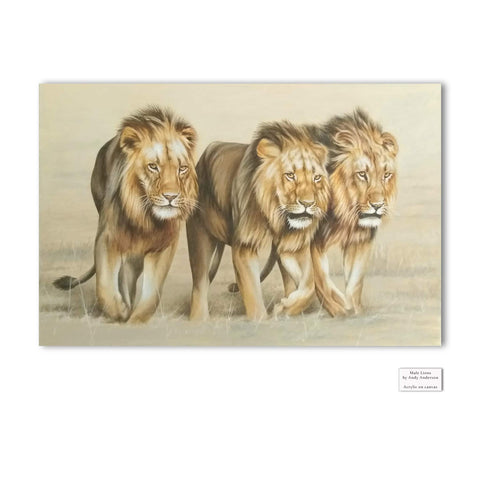 Original Artwork - Andy Anderson - Lions