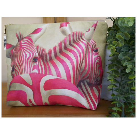 Toiletry Bag - Pink Zebra