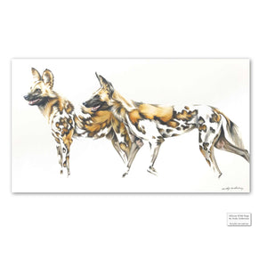 Original Artwork - Andy Anderson - African Wild Dogs