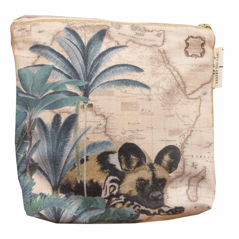 Safari Collection - Small Canvas Bag - Painted Wild Dog