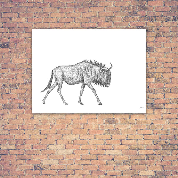 Original Artwork - J Patterson - Wildebeest