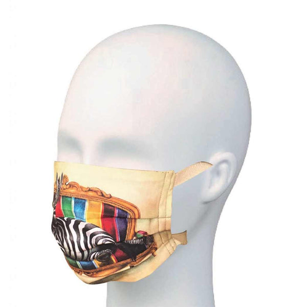 Face Mask - Zebra - Pleated