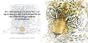 Greeting Card Single - Watercolour artist -Leopard
