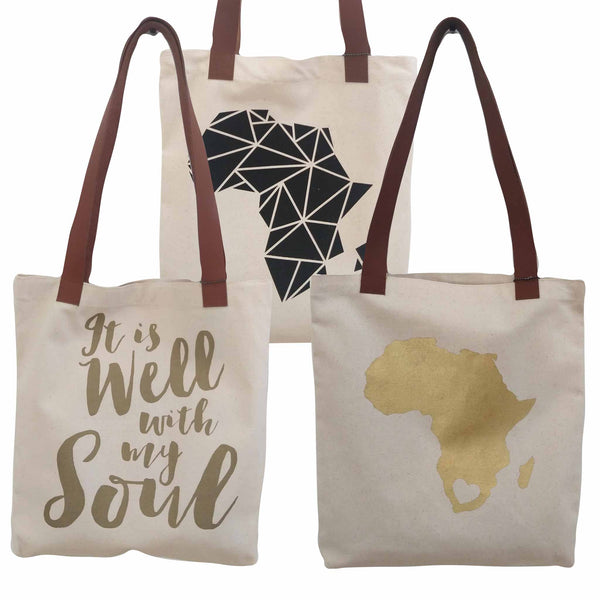 Tote Bag - Gold Africa
