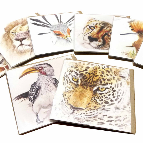 Greeting Card Single - Crowned Crane