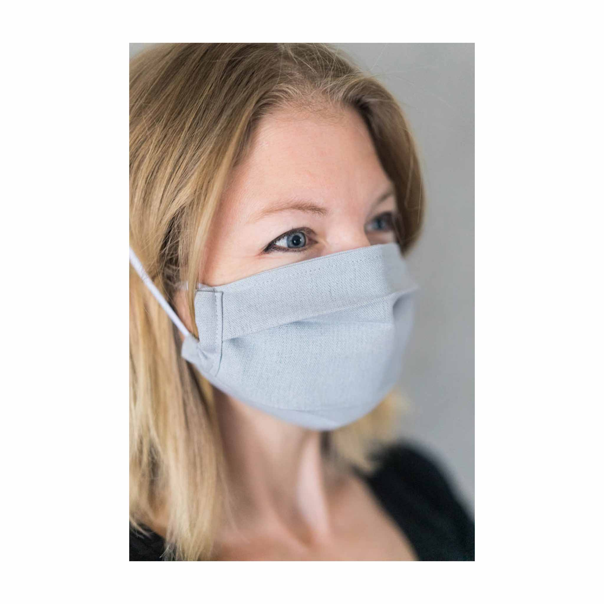 Face Mask - Grey Linen