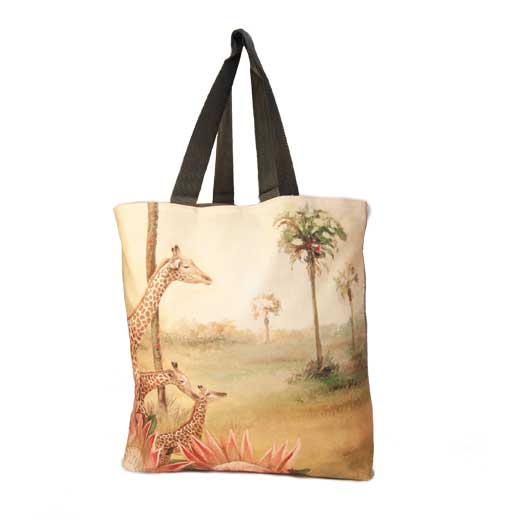 Large Canvas Bag - Giraffe