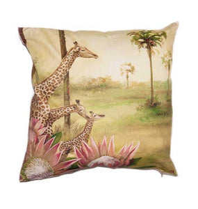 Wildlife Cushion Cover - Giraffe