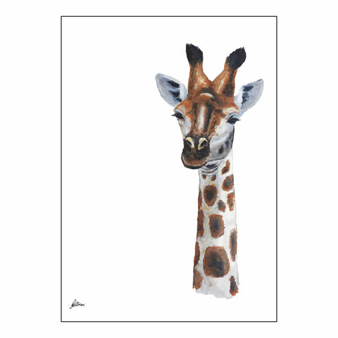 Limited Edition Print Wildlife in colour - Giraffe