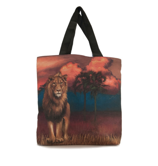 Large Canvas Bag - Lion