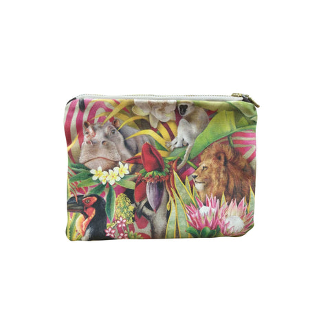 Small Canvas bag - Lion, Hippo, Monkey ,Ground Hornbill