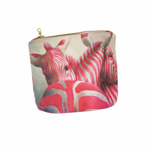 Small canvas bag - Pink Zebra