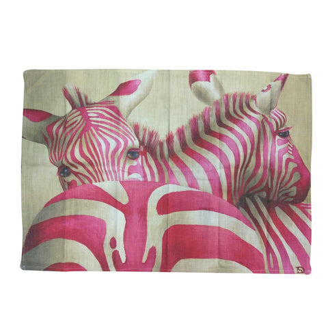 Tea Towel -  Pink Zebra