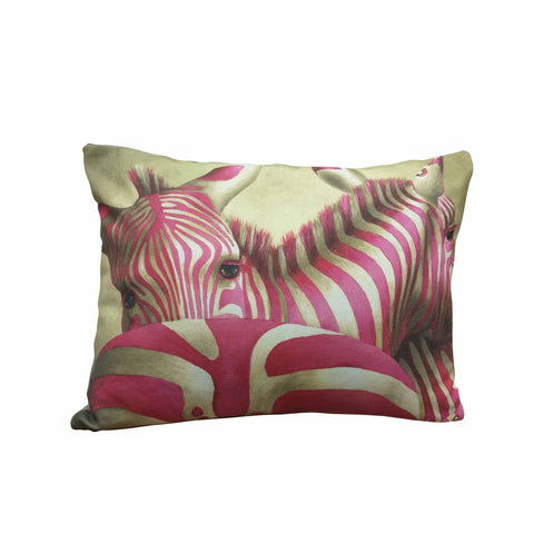 Wildlife Cushion Cover - Pink Zebra