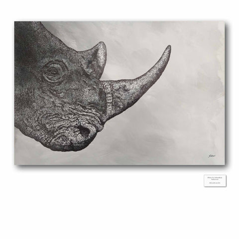 Original Artwork - J Patterson - Rhino