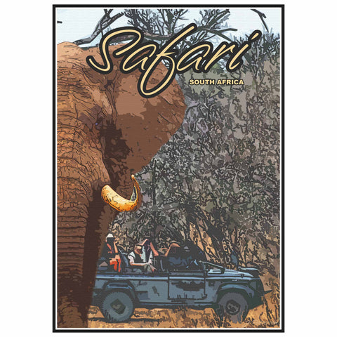 Vintage Poster - Safari Game spotting in the Kruger National Park