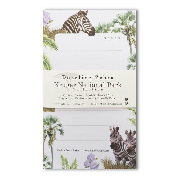 Wildlife Notepad - Kruger National Park - Zebra