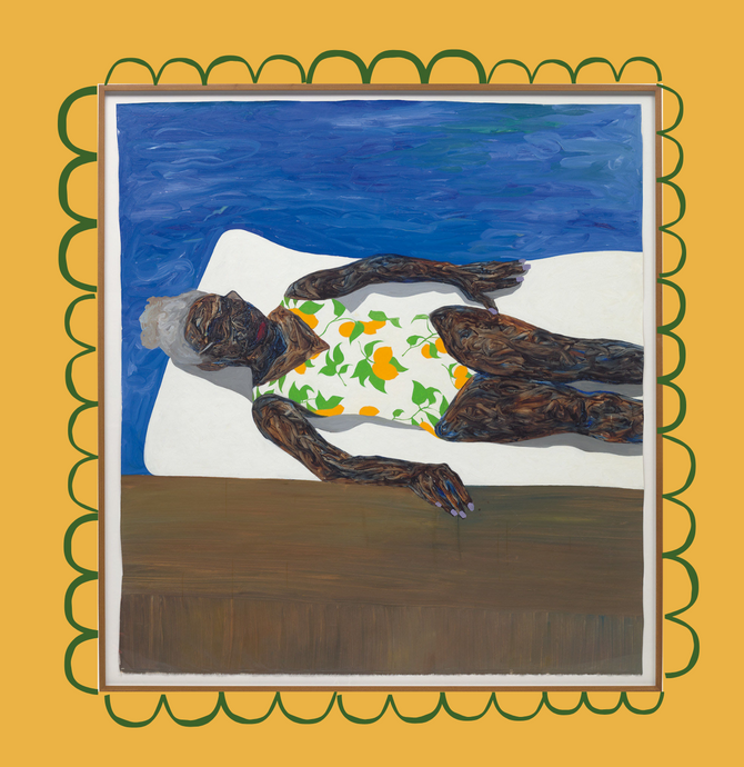 "masterpiece of the month (july): ""The Lemon Bathing Suit"" by amoako boafo"